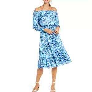 LILLY PULITZER Jennie Midi Dress Iris Blue Boho